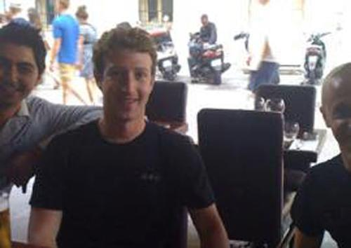 Mark Zuckerberg in Vieux Nice